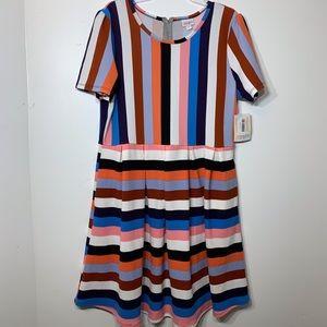 NWT LuLaRoe Gorgeous Striped Amelia Dress 3X